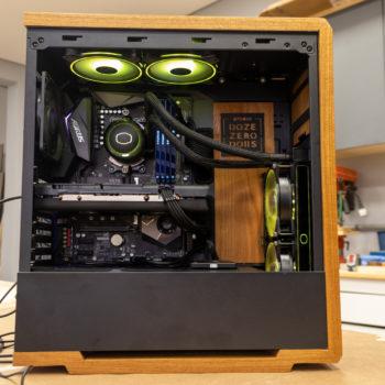 Modern wooden PC casemod